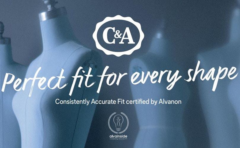 C&A erhalt AlvaInside Passform-Zertifizierung von Alvanon
