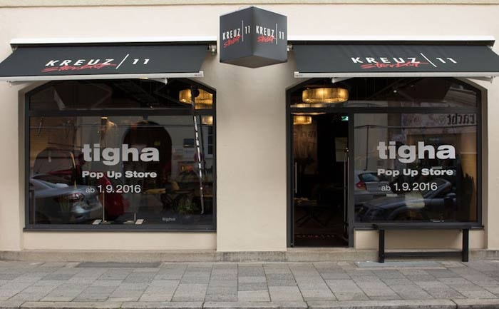 tigha er ffnet pop up store in m nchen. Black Bedroom Furniture Sets. Home Design Ideas