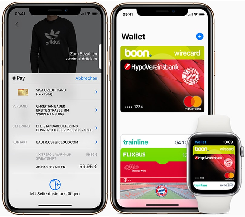Apple Pay startet in Deutschland