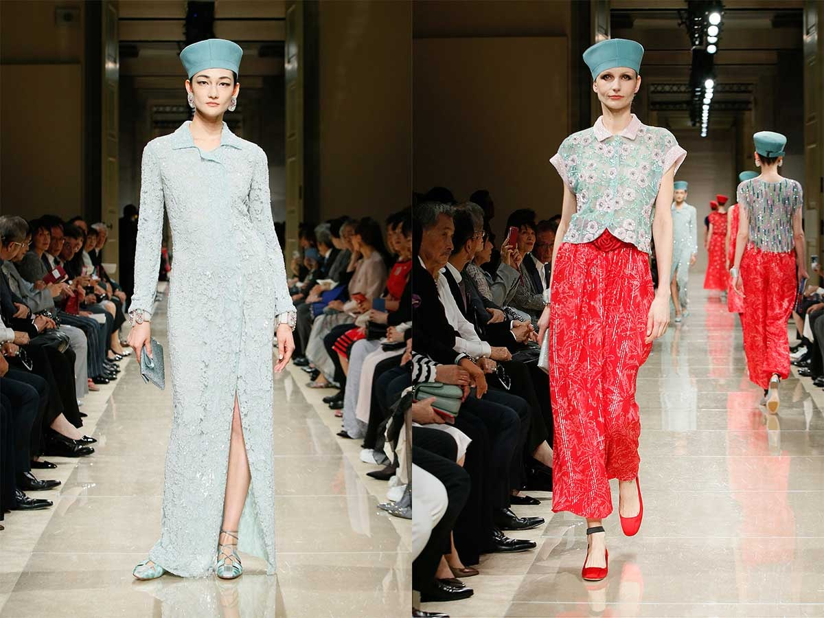 In Bildern: Giorgio Armani präsentiert Resort-Kollektion in Tokio