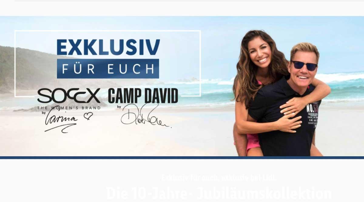 Camp David Soccx Lidl Sonderkollektion Mit Dieter Bohlen Und Carina Walz