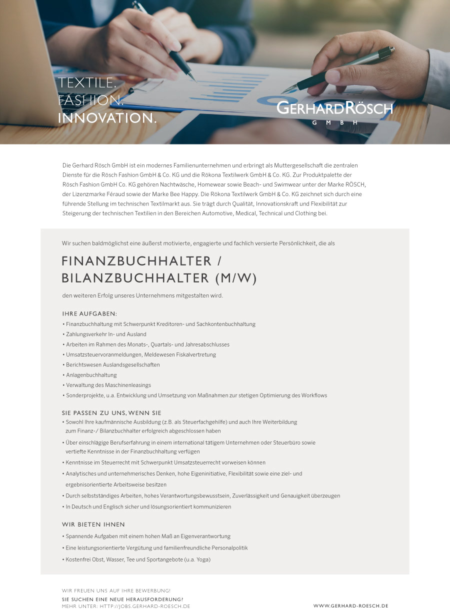 Finanzbuchhalter / Bilanzbuchhalter (m/w) Tübingen (Stuttgart)