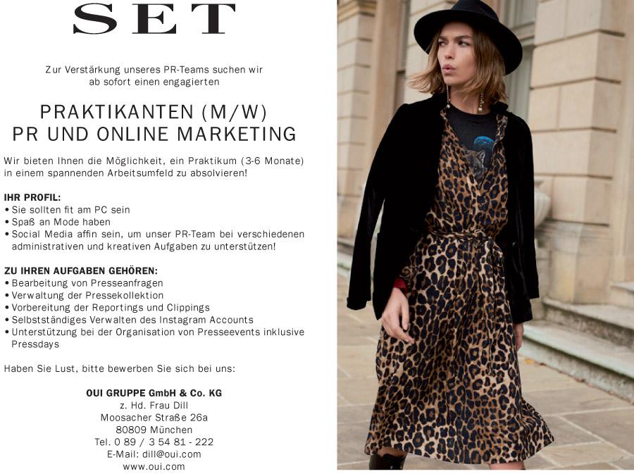 Praktikanten Mw Pr Und Online Marketing München