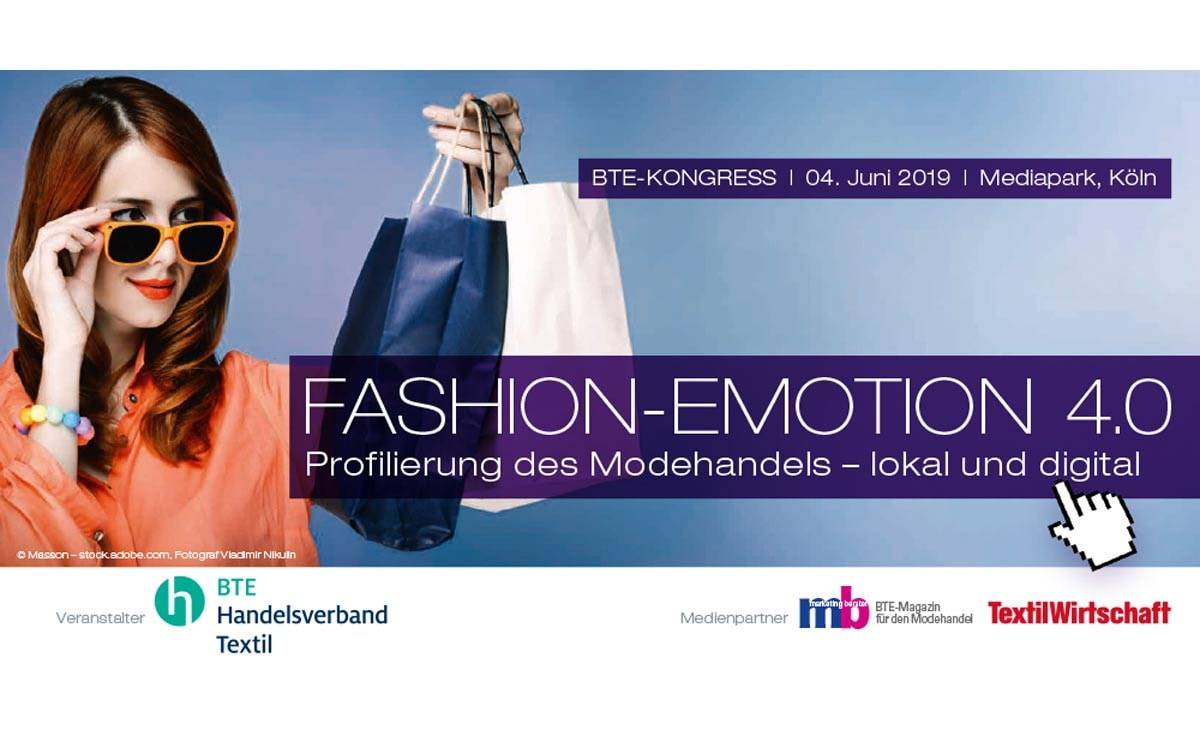 "BTE-Kongress ""Fashion-Emotion 4.0"" am 4. Juni in Köln"